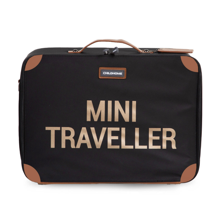 CHILDHOME Kinderkoffer Mini Traveller zwart / goud