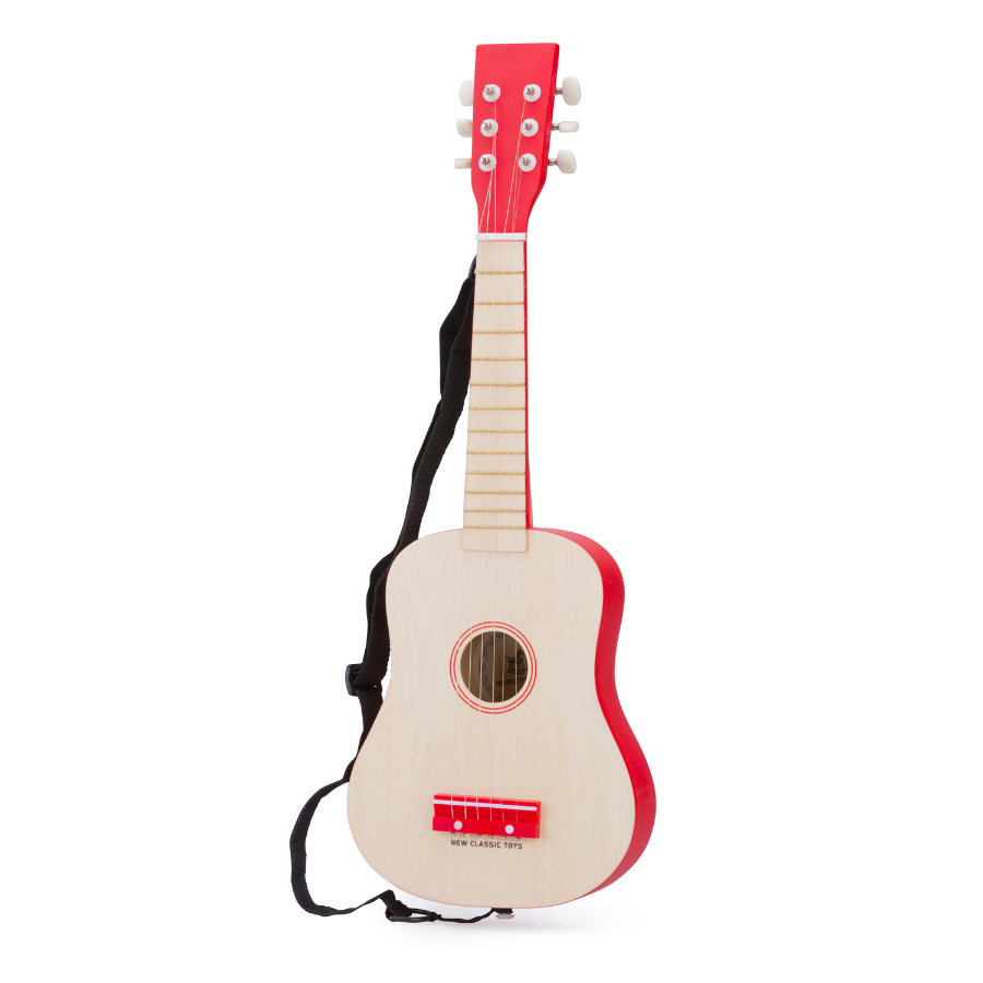 New Classic Toys Gitarre - DeLuxe - Natur/Rot