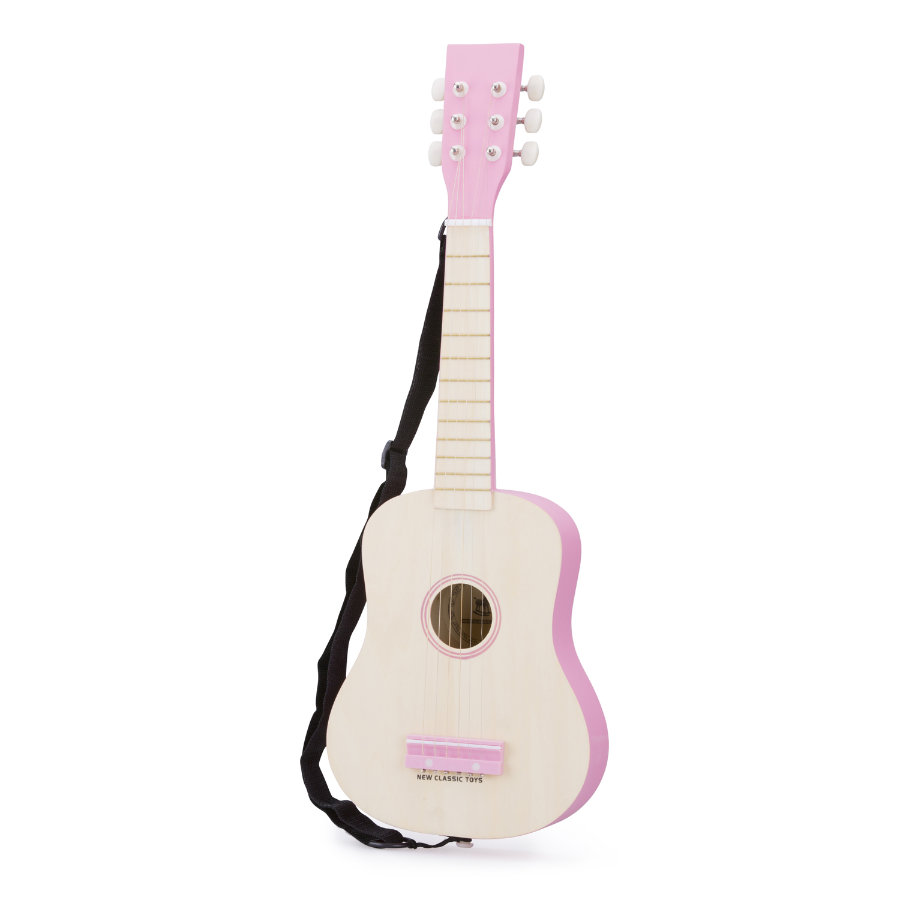 New Classic Toys Gitarre - DeLuxe - Natur/Pink