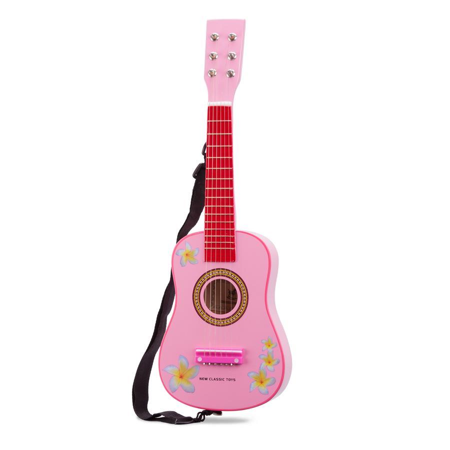 New Classic Toys Gitarre - Pink mit Blumen