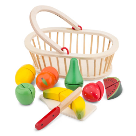 New Classic Toys Corbeille fruits à découper enfant bois