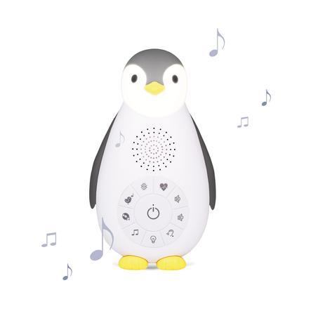 ZAZU Boîte à musique Bluetooth Zoe le pingouin, veilleuse, gris