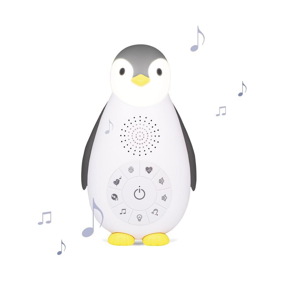 ZAZU ZOE - The Penguin Bluetooth Musikbox med natlampe grå