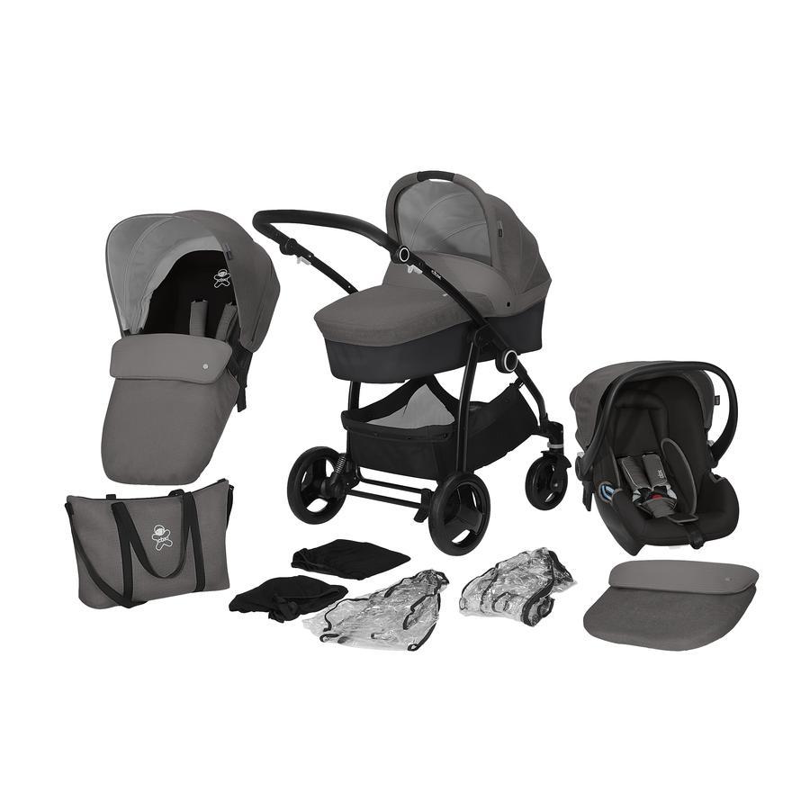 cbx Kombikinderwagen Leotie Pure mit Babyschale Shima One Box Comfy Grey by cybex