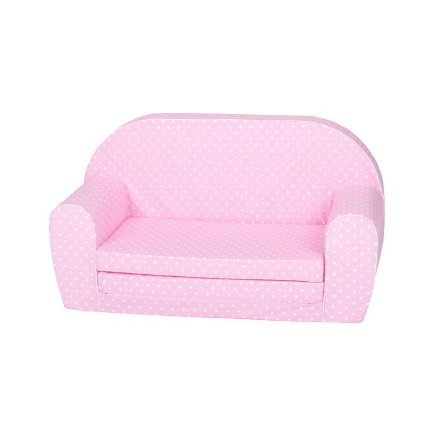 """knorr® toys Kindersofa - """"Pink white dots"""""""