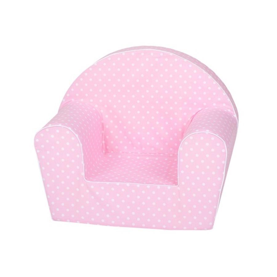 """knorr® toys Barnfåtölj - """"Pink white dots"""""""
