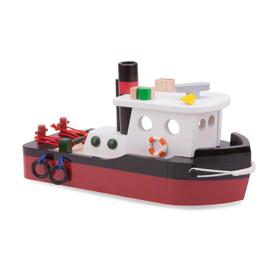 New Classic Toys Figurine bateau remorqueur bois