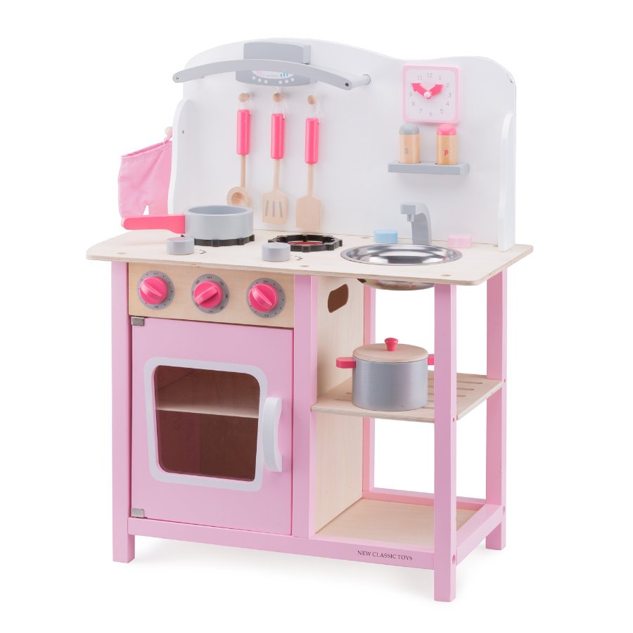 New Classic Toys Cuisine enfant Bon Appetit bois rose