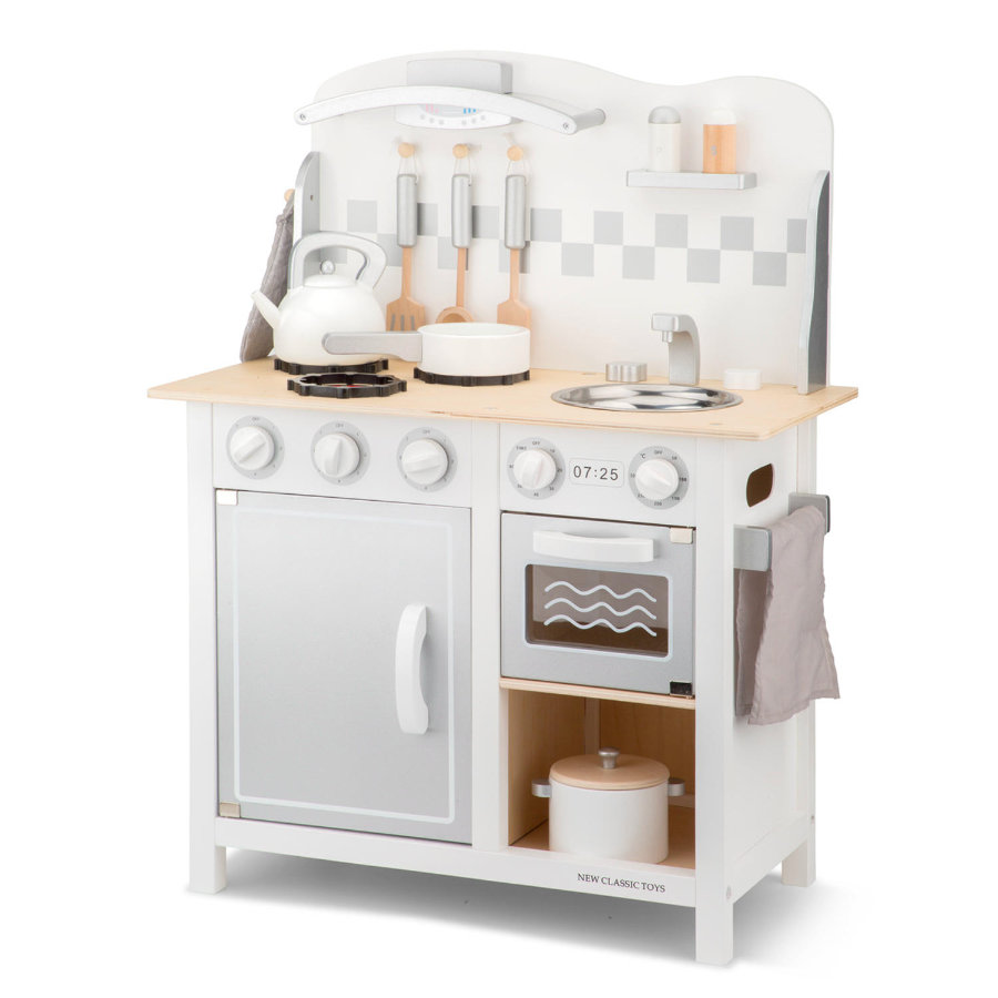 New Classic Toys Kitchenette Bon Ap petit Blanco/plateado de lujo