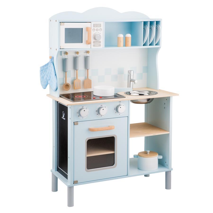 New Classic Toys Küchenzeile - Modern mit Kochfeld blau