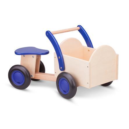 New Classic Toys Porteur enfant bleu, boîte naturel bois