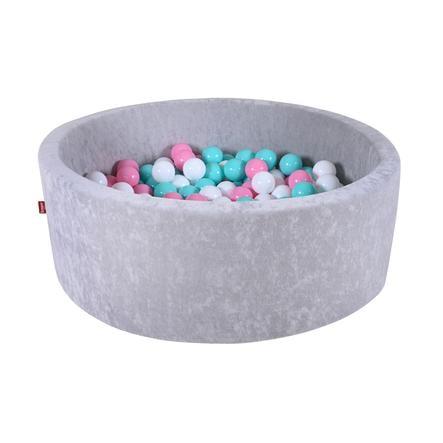 """knorr® speelgoed ballenbad zacht - """"Grijs"""" - 300 ballen roos/room/ light blauw"""