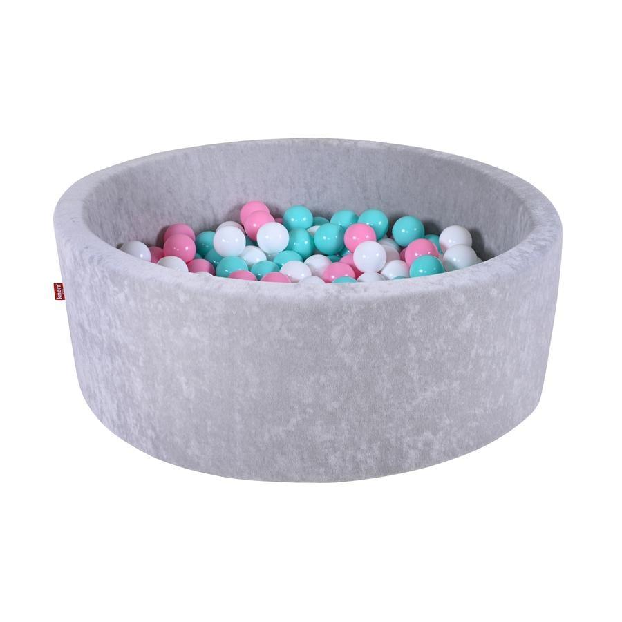 """knorr® legetøj Bold badekugle blød - """"Grey"""" - 300 kugler rose/creme/ light blå"""