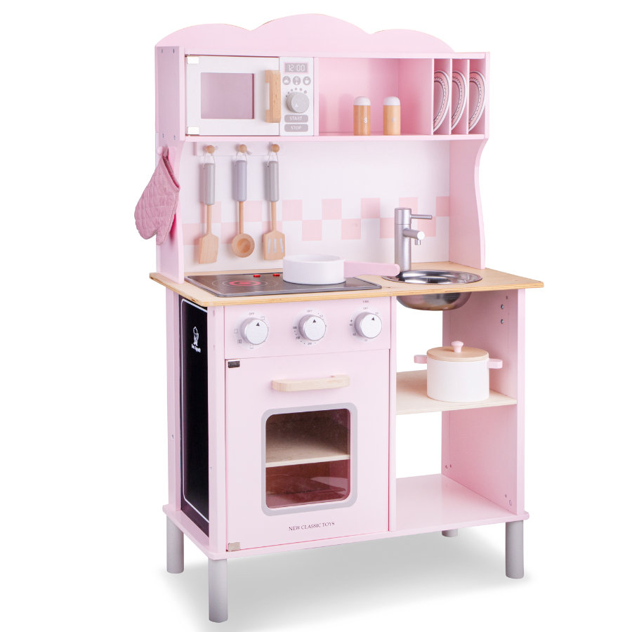 New Classic Toys Küchenzeile - Modern mit Kochfeld pink