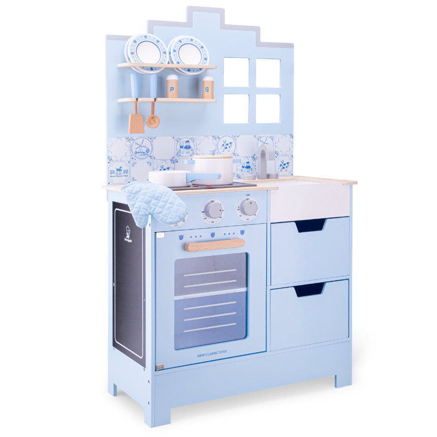 New Classic Toys Kinderküche - Delfter blau