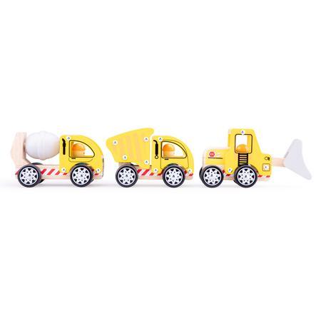 New Classic Toys  leksaker Byggfordons set - 3 fordon