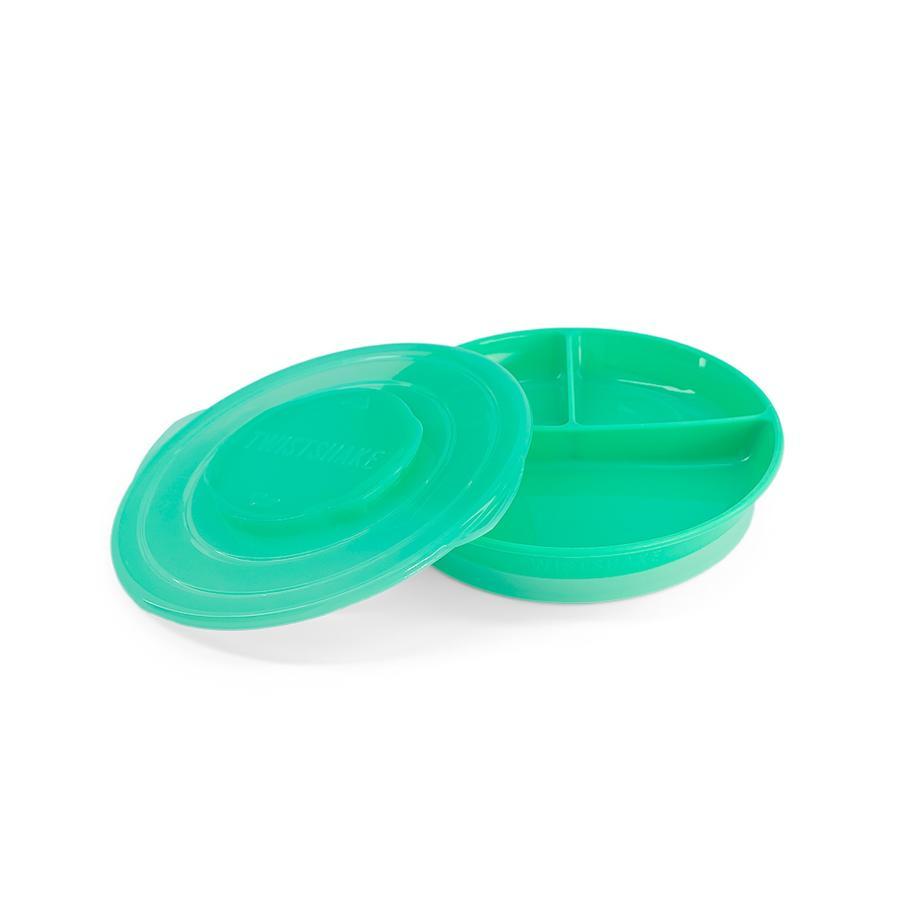TWIST SHAKE  Assiette pour enfants avec subdivision 6+ mois vert pastel