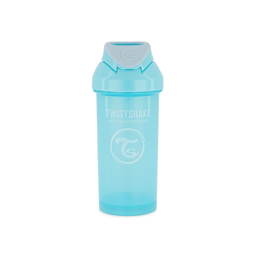 TWIST SHAKE  Butelka na słomkę Słomka Puchar 360 ml 12+ miesięczny pastelowy niebieski