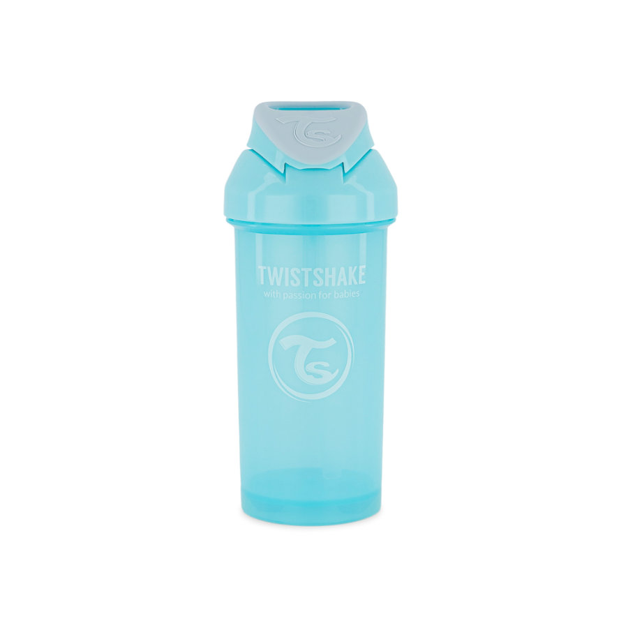 TWIST SHAKE Halmflaske Halmkop 360 ml 12+ måneder pastelblå