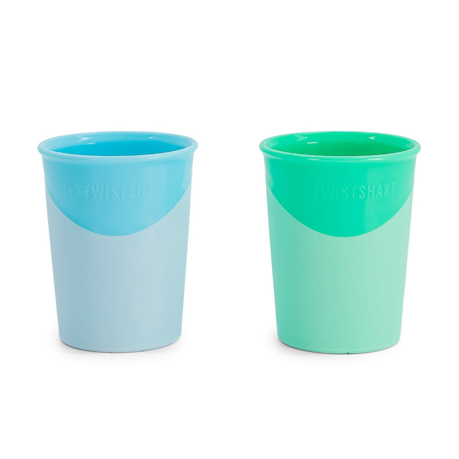 TWISTSHAKE Trinkbecher 2 x 170 ml 6+ Monate pastel blau / grün
