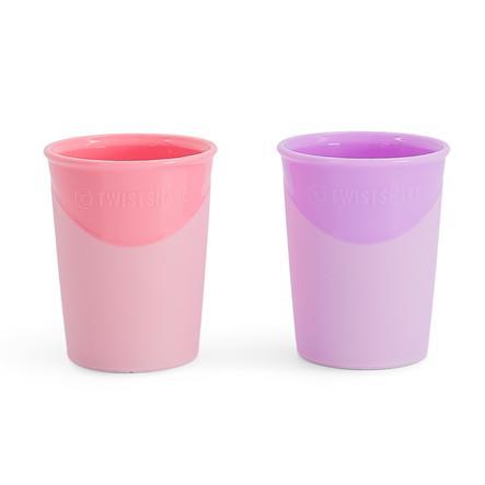 TWIST SHAKE  Gobelet 2 x 170 ml 6+ mois rose pastel / violet