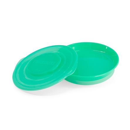 TWIST SHAKE dětský talíř 6+ měsíců pastelově zelený