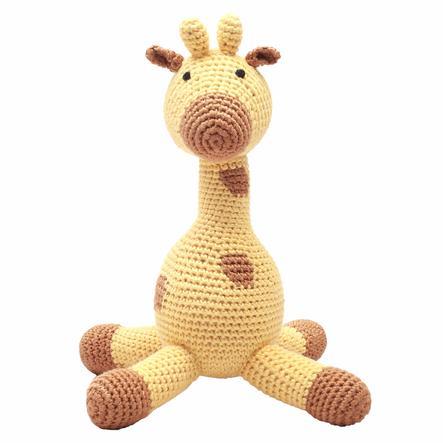 natureZoo of Denmark Peluche à crochet girafe jaune