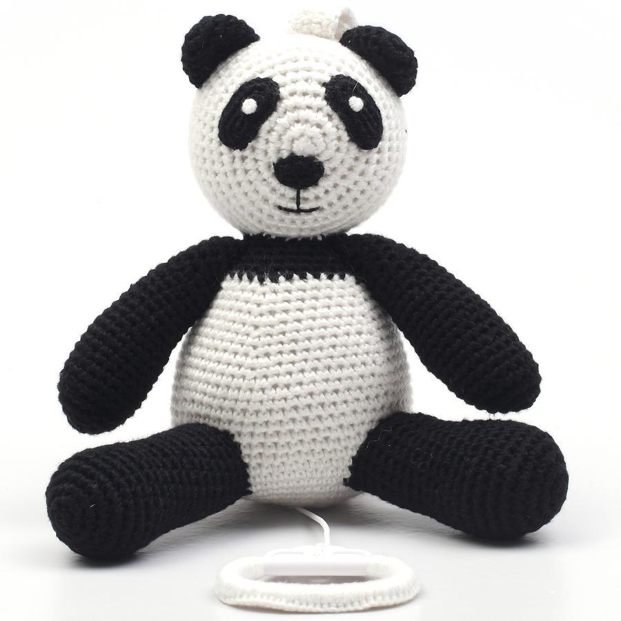 natureZoo of Denmark gehäkelte Spieluhr Panda, schwarz