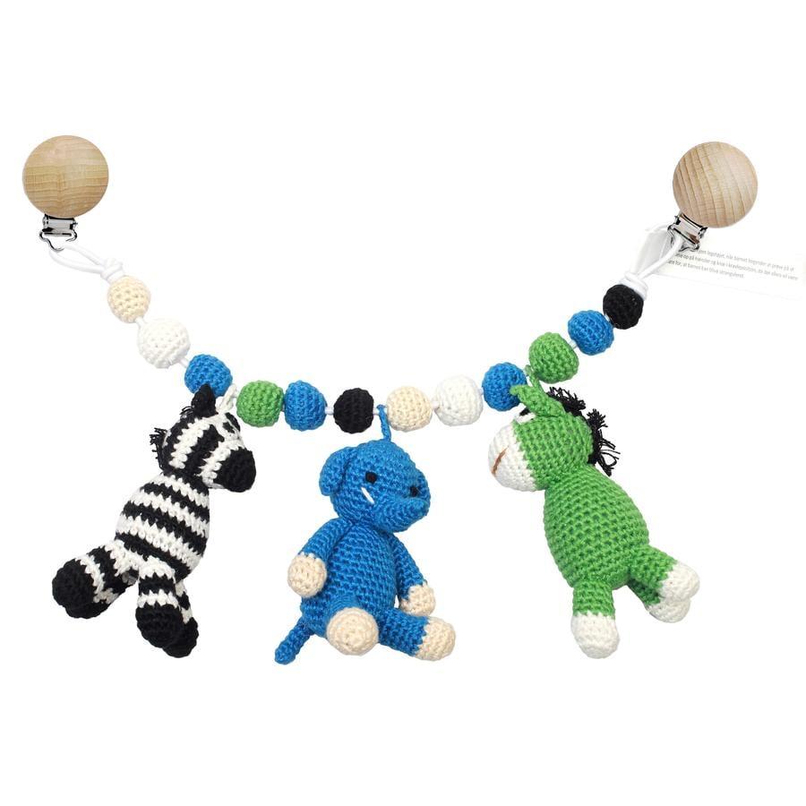 naturZoo of Denmark virkad barnvagnskedja, åsna, elefant, zebra
