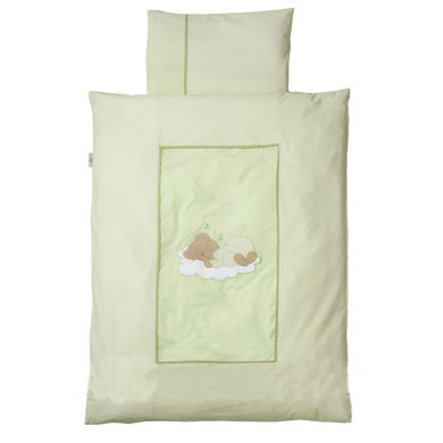 Easy Baby Bettwäsche 80x80cm Sleeping bear grün (415-84)