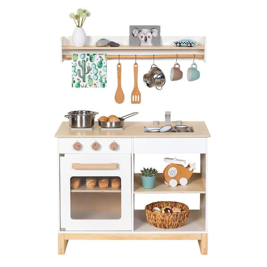 MUSTERKIND® Spielküche- Magnolia - weiß/natur