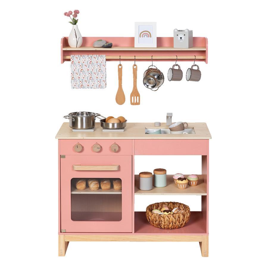 MUSTERKIND ® Cocina de juguete Magnolia - rosa empolvado/natural