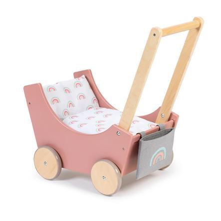MUSTERKIND® Dockvagn - Barlia - rosa/natur