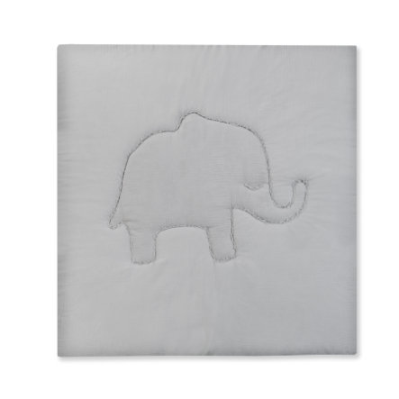 JULIO ZÖLLNER Terra Manta de arrastre de elefante gris 120 x 120 cm