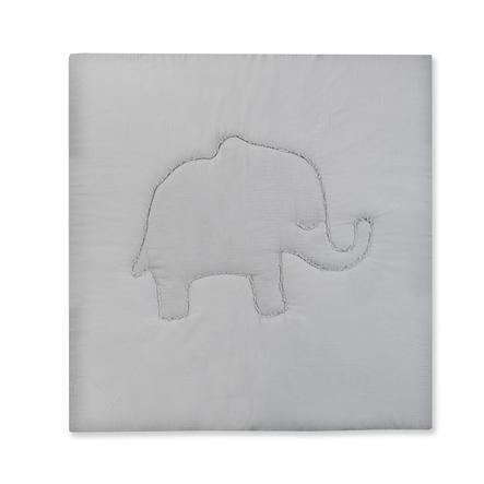 JULIUS ZÖLLNER Krabbeldecke Terra Elefant grau 120 x 120 cm