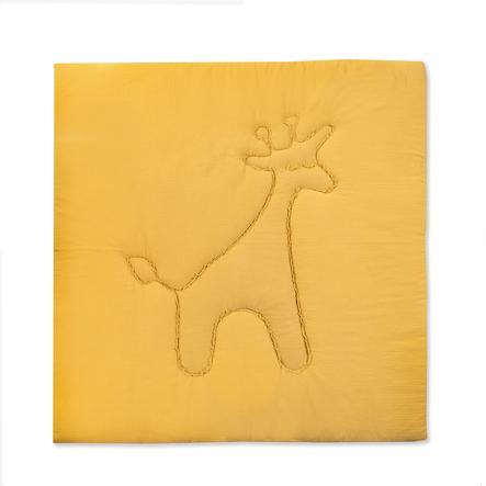 JULIUS ZÖLLNER Krabbeldecke Terra Giraffe honig 120 x 120 cm