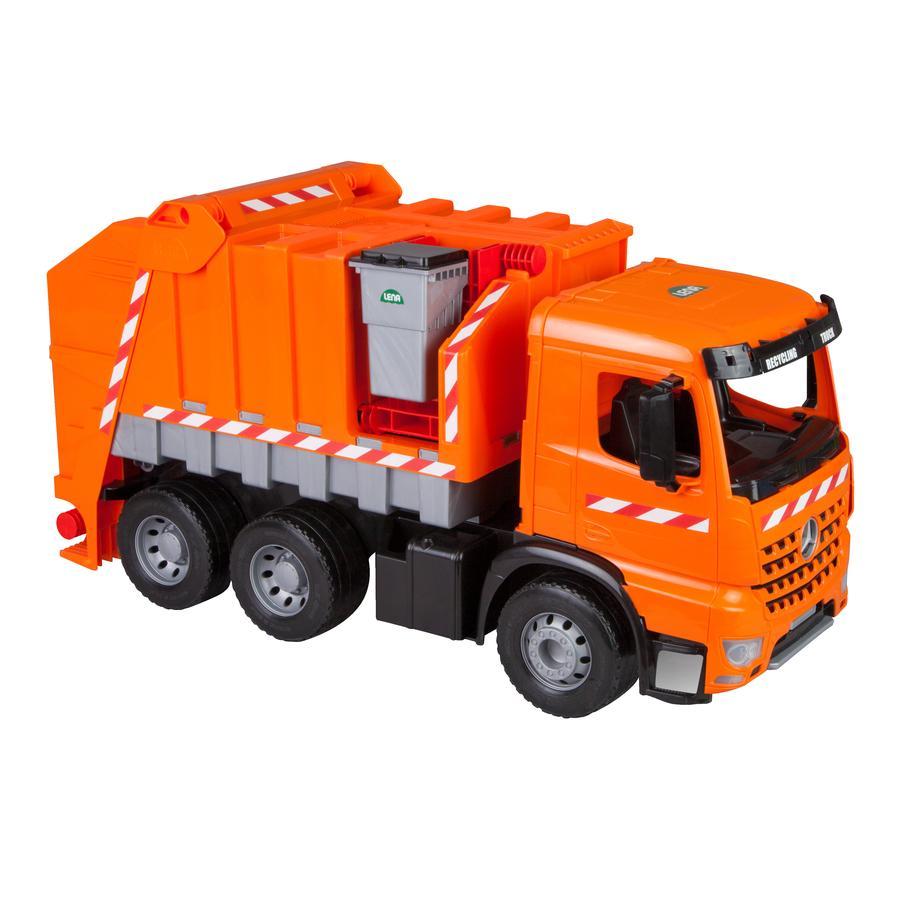 LENA Camion poubelle miniature GIGA TRUCKS Arocs avec autocollants