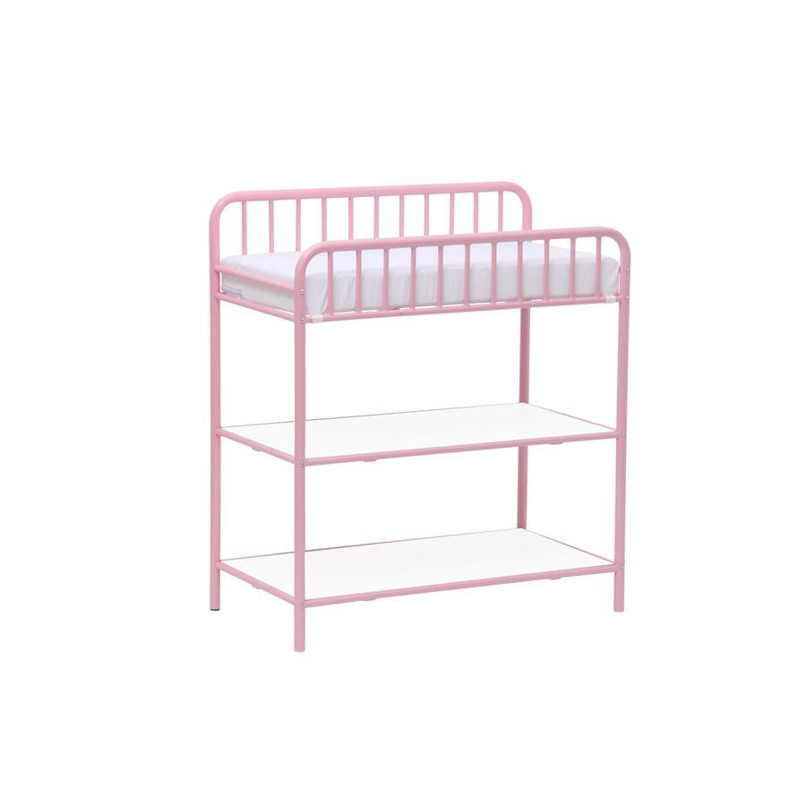 Polini Mesa de cambio para niños Vintage rosa