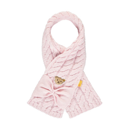 Steiff Girls scarf barely pink