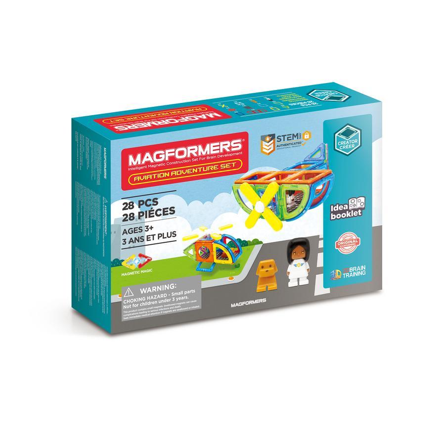 MAGFORMERS ® Jeu de construction magnétique enfant Set Aviation Adventure