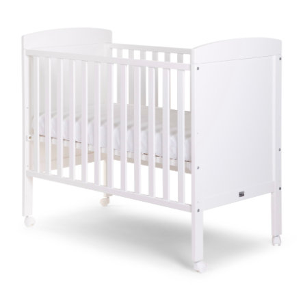 CHILDHOME Baby seng hvid 60 x 120 cm + hjul