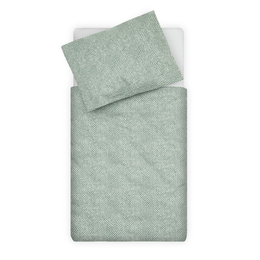 jollein Biancheria da letto Cenere di serpente green 100 x 140 cm