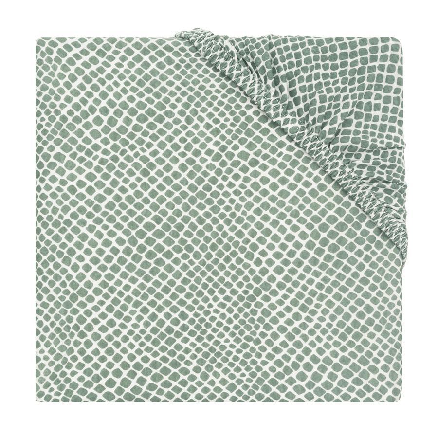 jollein Drap housse enfant Jersey Snake ash green 60x120 cm
