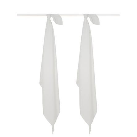 jollein Gauze bleier 2-pakning hvit 115x115cm