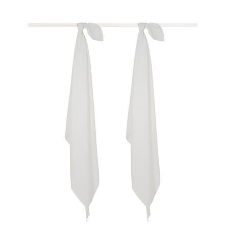jollein Mullwindeln 2er-Pack white 115 x 115 cm