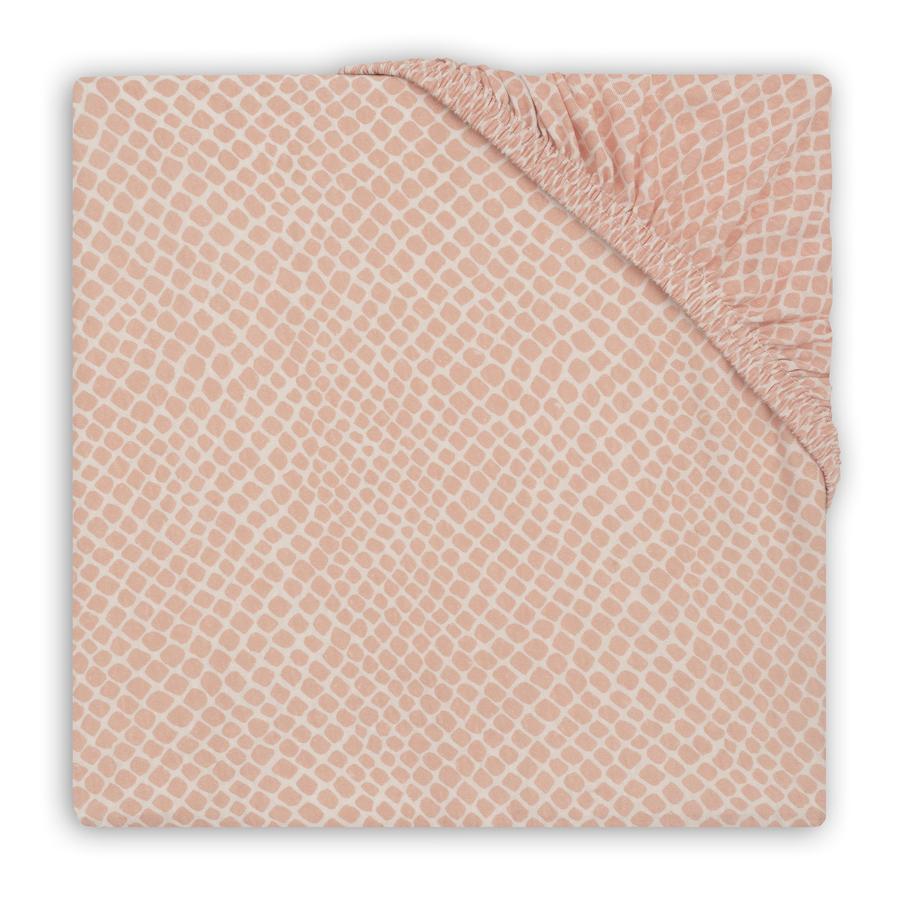 jollein Lenzuolo con angoli in jersey per materasso Snake rosa pallido 75 x 95 cm