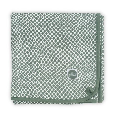 jollein Decke Jersey Snake ash green 75 x 100 cm