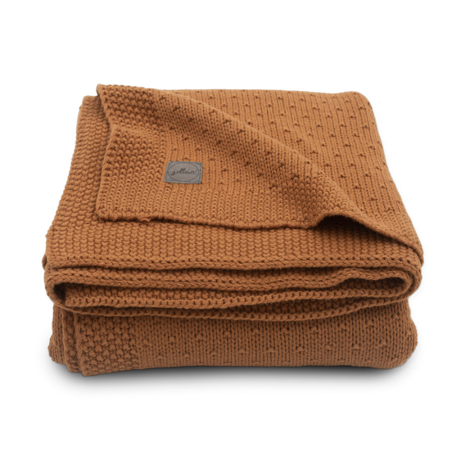 jollein coperta a maglia Bliss caramello 75 x 100cm