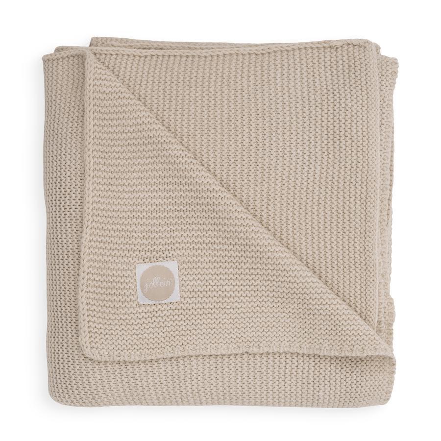 jollein Pletená deka Basic nugát 100 x 150 cm