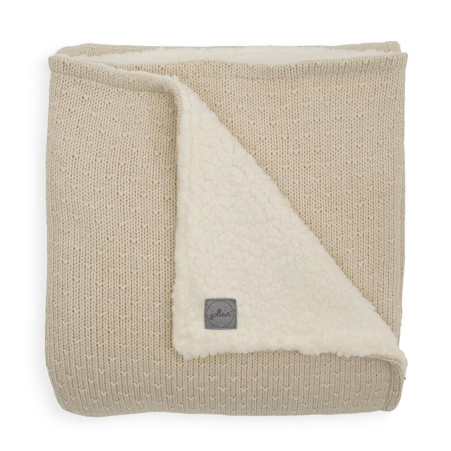 jollein Pletená deka Teddy Bliss nugát 100 x 150 cm